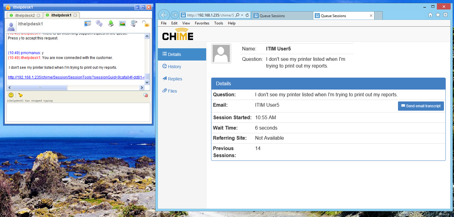 Features and Benefits | Chime for XMPP - XMPP Service Desk